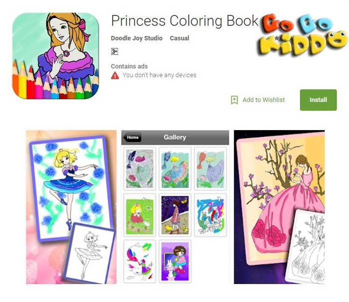 Princes coloring book